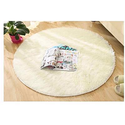 80cm Fluffy Rug Anti-Skid Shaggy Area Bedroom Carpet Floor Mat off White