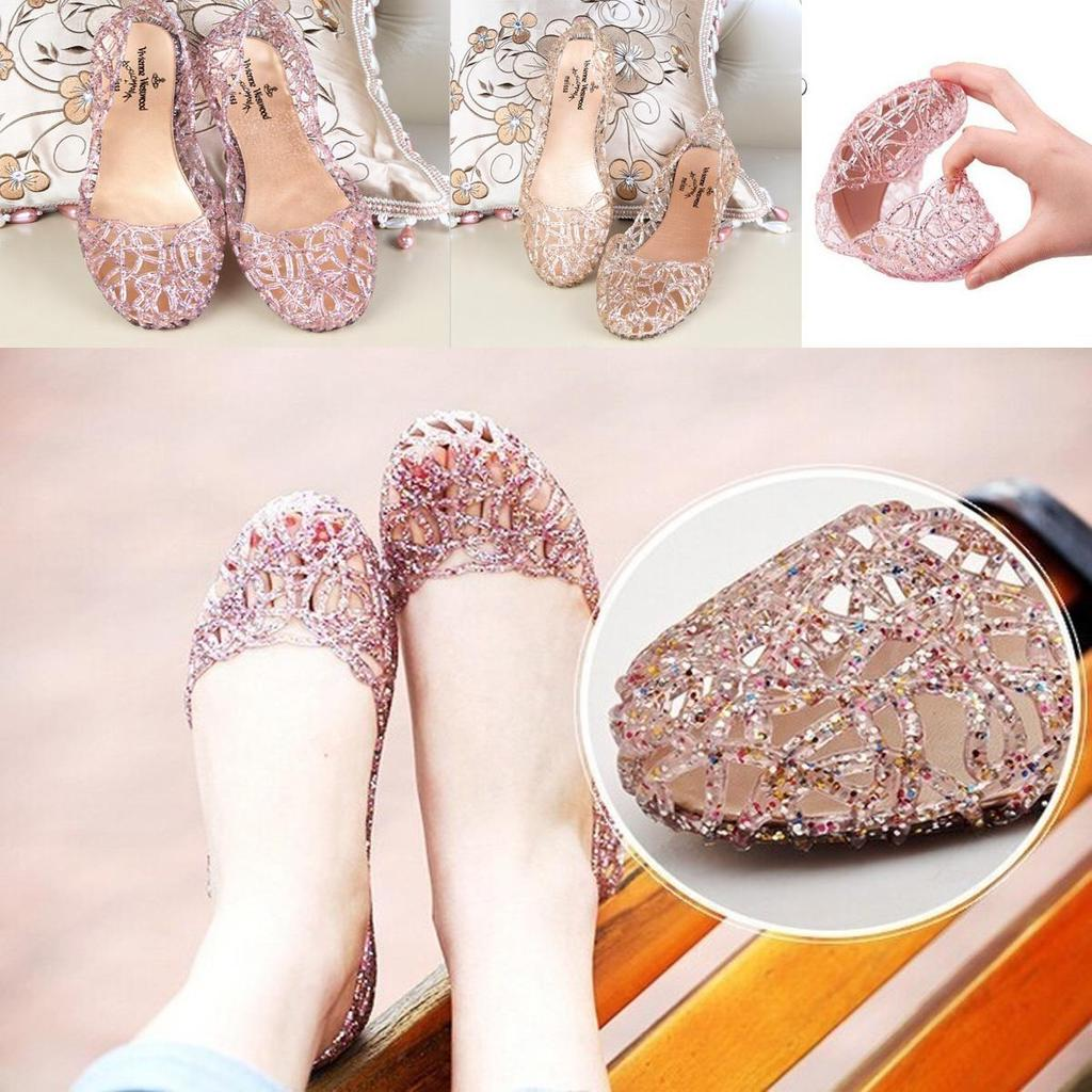 7ef3aad3f869d8 Fashion Crystal Plastic Breathable Flat Women s Sandals Jelly Shoes-buy at  a low prices on Joom e-commerce platform