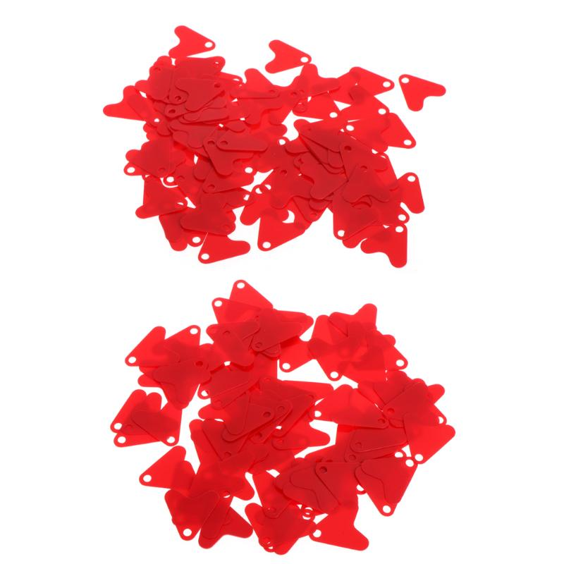100Pcs Plastic Red Heart Shape Sequin Accessory For Bait Spoon Fishing Lure Hook