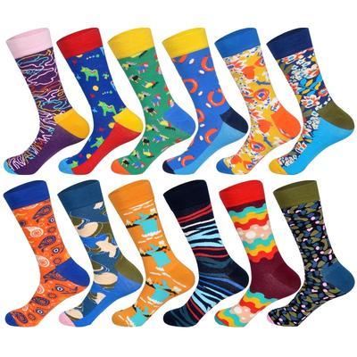Fashion Men Women Cotton Funny Socks Colorful British Diamond Casual Socks New