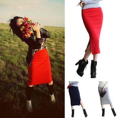 f501d85b964 Модные модные летние весной модальных стрейч карандаш юбка Smage Сплит  сексуальная Mag