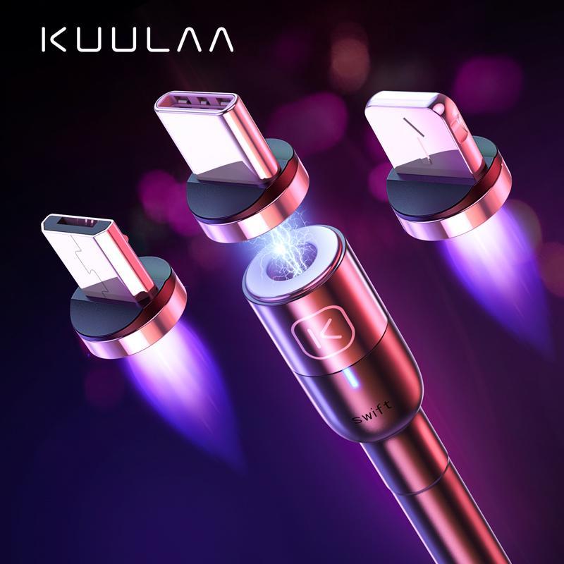 KUULAA Магнитный кабель USB Тип C Быстрая зарядка кабель для Xiaomi Micro Usb Мобильный телефон Кабели для iPhone Магнит зарядное устройство Шнур фото