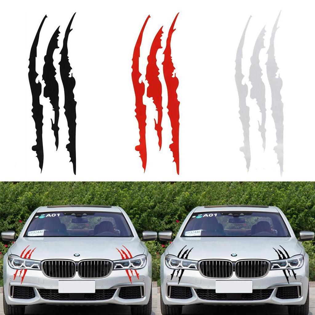 1Pair 3Colors Warning Strip Reflective Tape Car Safety Reflector Stickers Decals