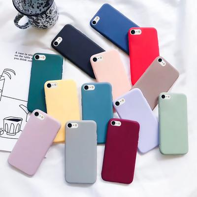 Candy Color Soft Simple Fashion Solid Color Silicone Case For iPhone SE 2020 11 12 Pro XS Soft TPU Case