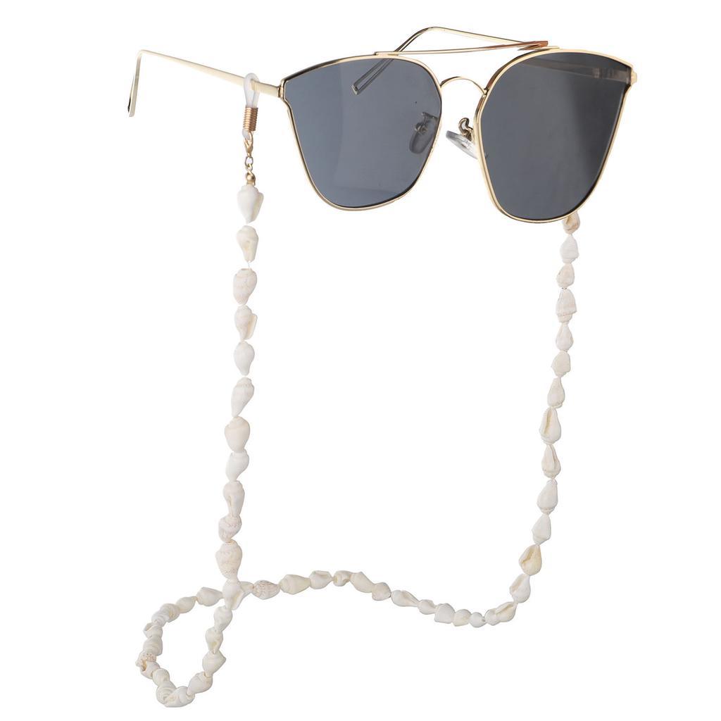Cadena retro antideslizante de metal con cuentas para sostener las gafas del cuello para mujer