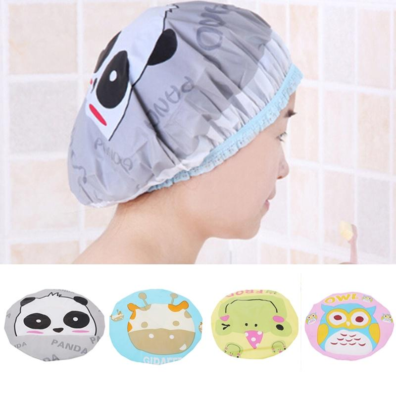 Shower Cap Lace Elastic Women Cartoon Bathroom Spa Hat Hair Protection-buy at a low prices on Joom e-commerce platform