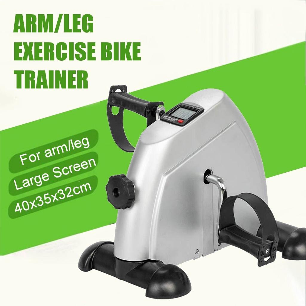 Mini Pedal LCD Exercise Bike Arm Leg Resistance Cardio Workout Fitness Gym Home