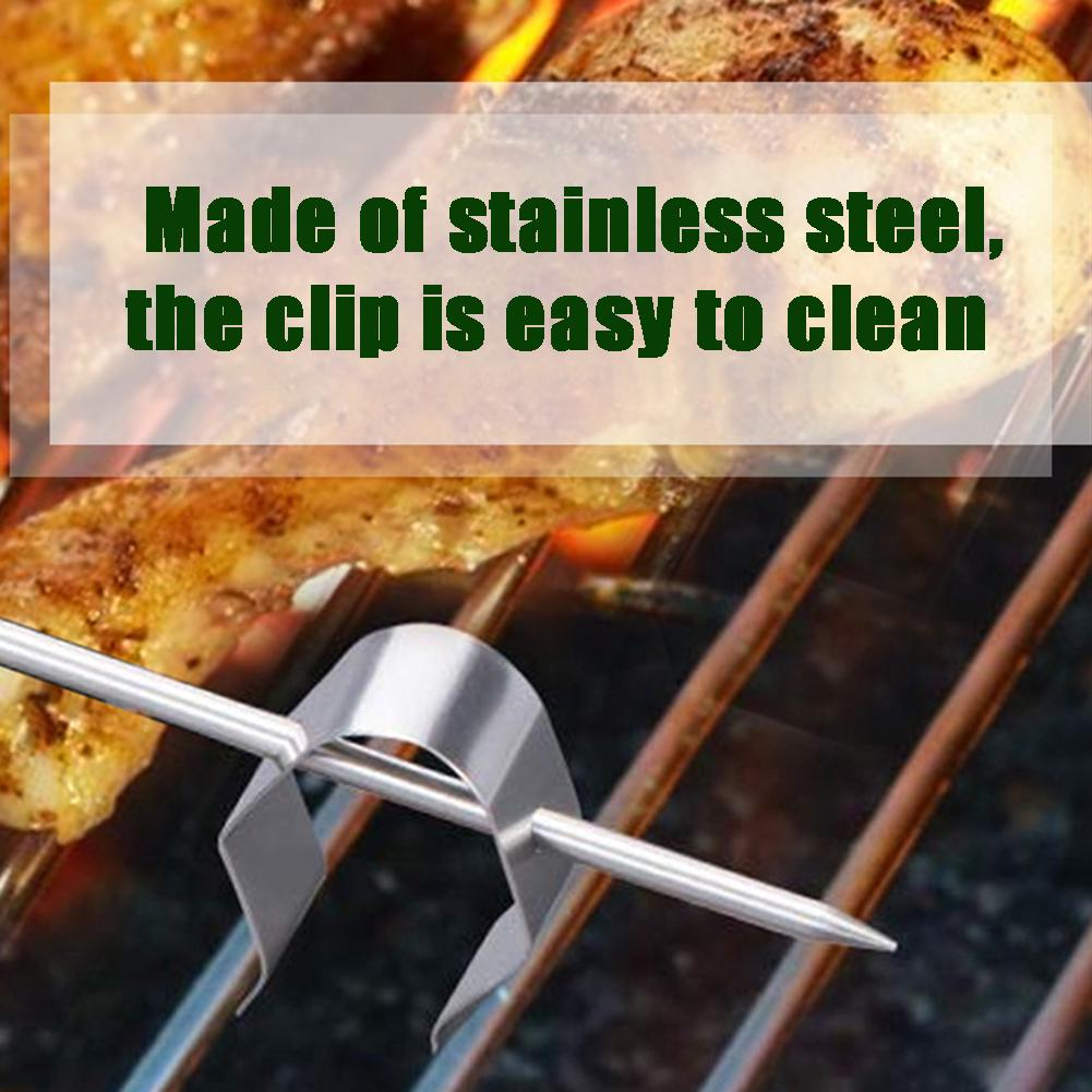 4Pcs Ambient Meat Clip Grill Temperature Universal Probe Thermometer Holder