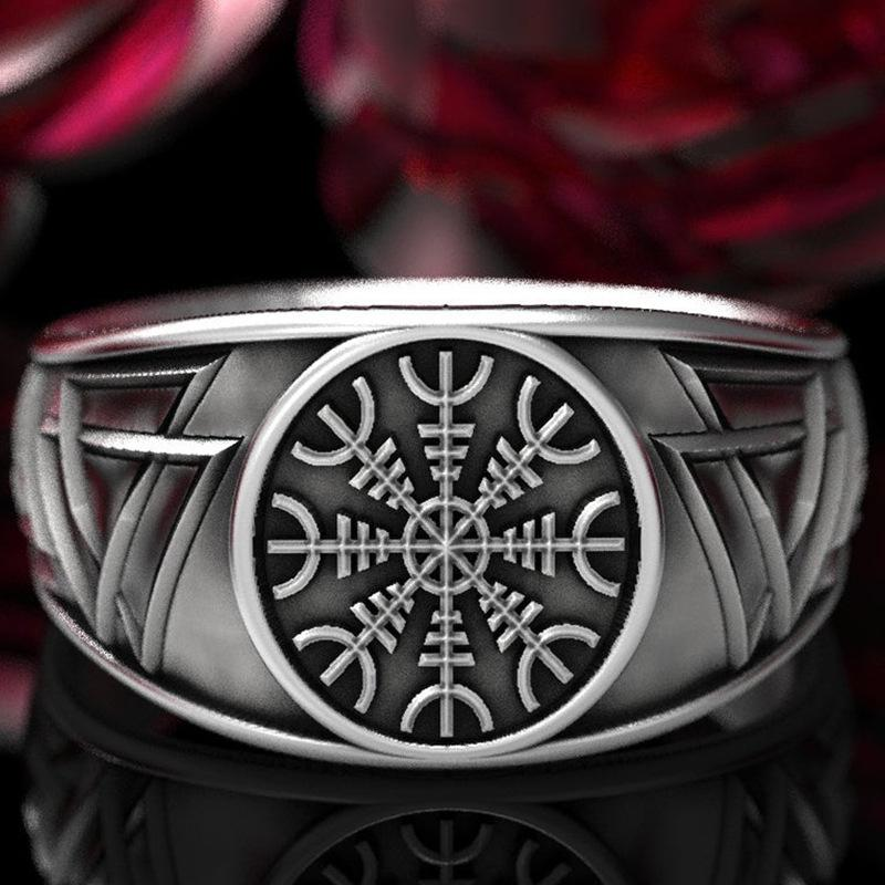 Alicejewelry Vintage Stainless Steel Large Cross Angel Wing Ring Gothic Biker Rings,Size 7-13