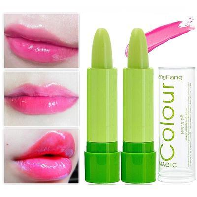 c1a74e2147dd50 Design Magic Temperature Nawilżający balsam do ust o długotrwałym  zabarwieniu od zielonego do różowego