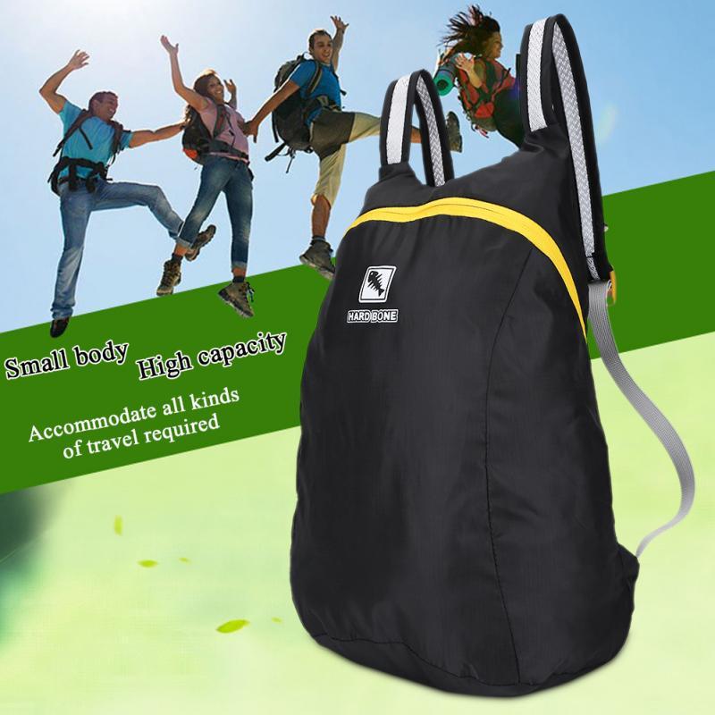 4383920413e Men Women Folding Sports Backpack Outdoor Shoulders Bag Storage Pack  Black-buy at a low prices on Joom e-commerce platform