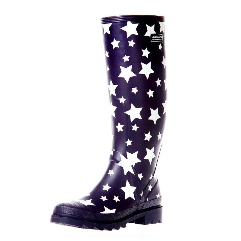 Lostlands moda mujer goma Chambergo botas lluvia niña Rainboots ...
