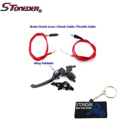 STONEDER Brake Clutch Lever Throttle Clutch Cable For 50cc-160cc TTR XR50  CRF50 SSR Pit Dirt Bike