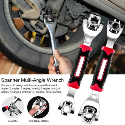 8-21mm 8 in 1  Spanner Multi-Angle Wrench Magnetic Hand Tool 360 Rotate head