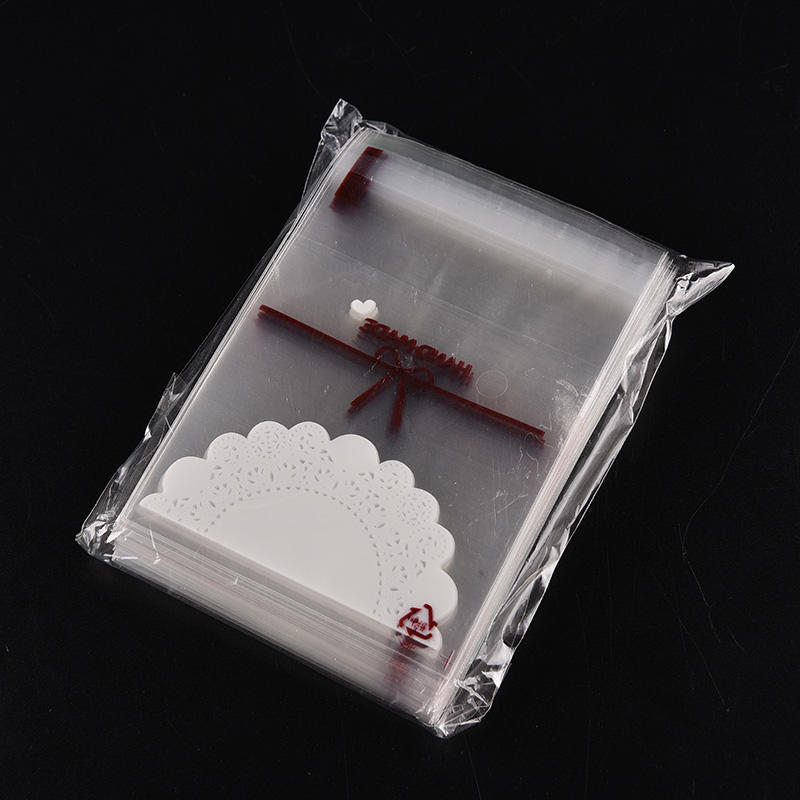 Party Cookie Bag Self Adhesive White Lace Candy Candy Packaging Bag YW
