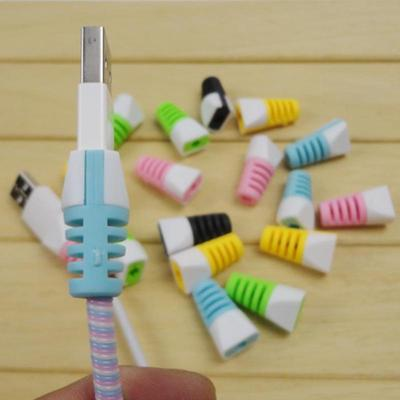 Smartphone Automatic Earphone Cord Wrap USB Cable Winder Organizer Tidy Tie T3
