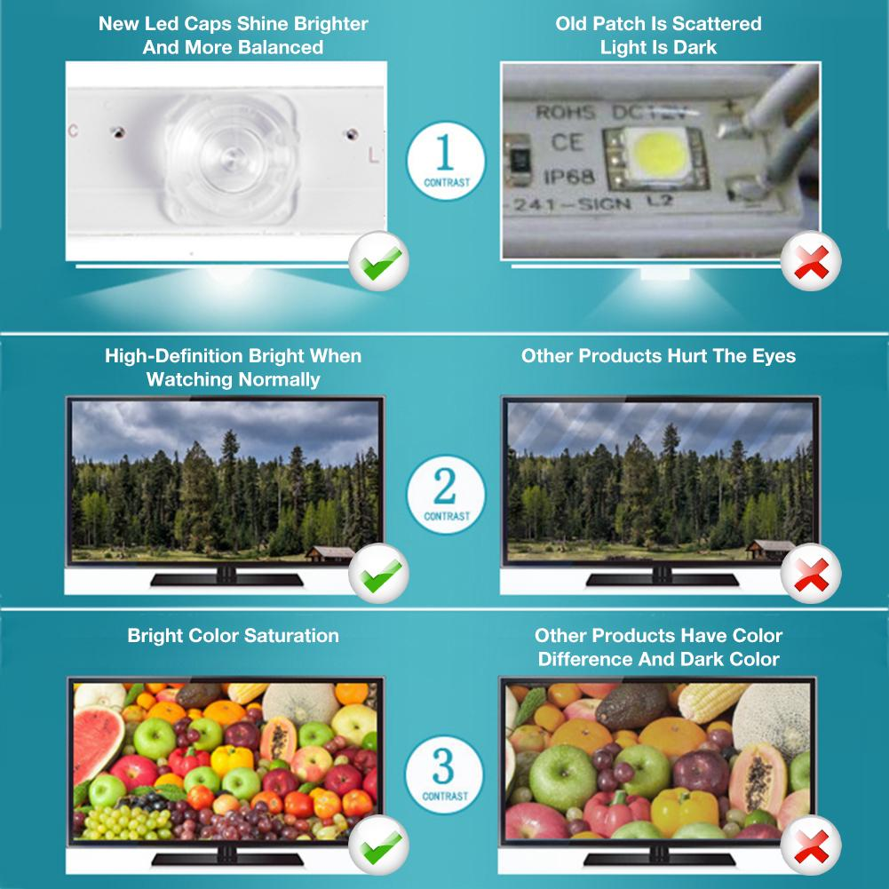 "2pcs 355mm LED Backlight Strip Lamps Kit for 19/"" TV Repair CCFL LCD Monitor"