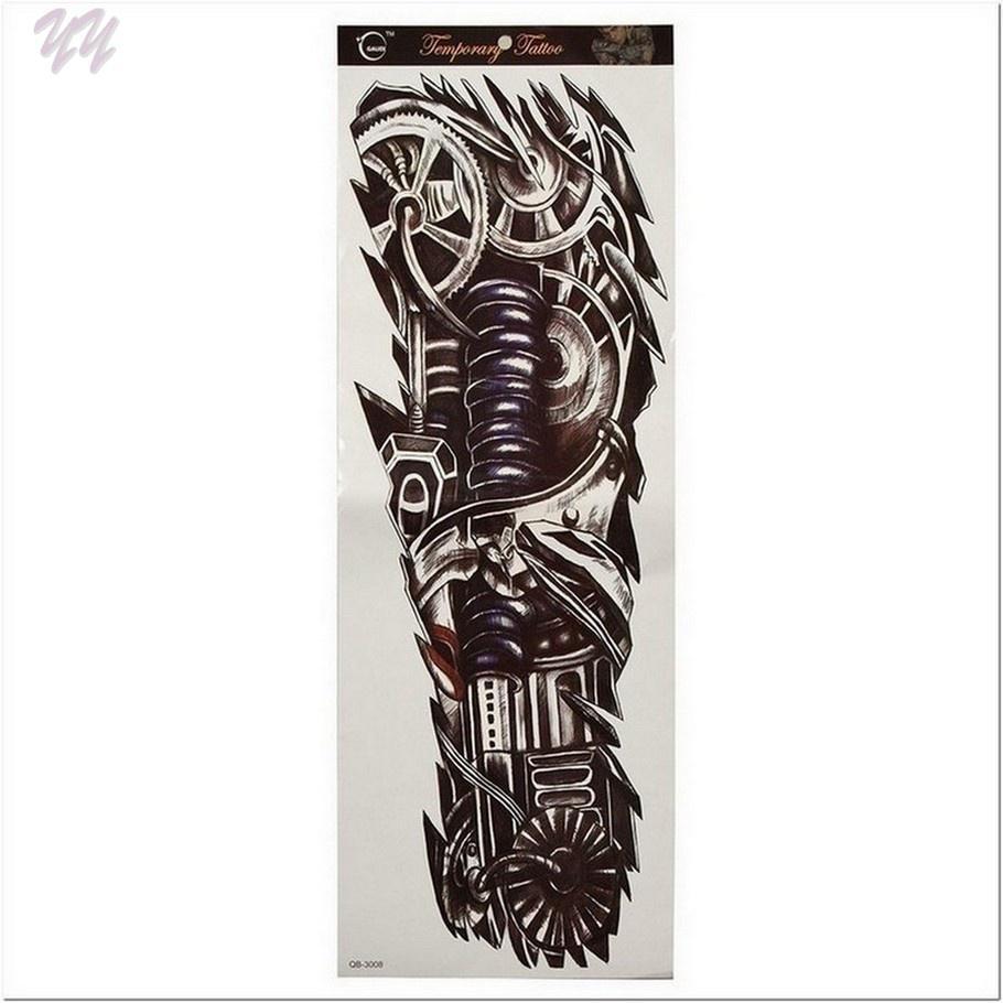 Dobra Jakość Nietoksyczny Tymczasowe Tatuaże Mechaniczne Naklejki Ręczne Yyd13