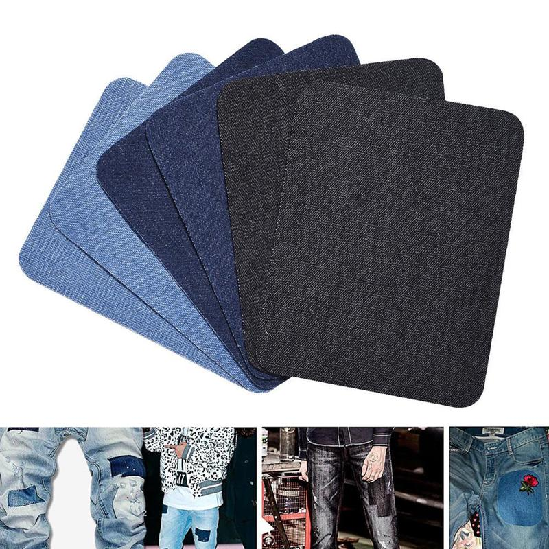 Iron On Elbow Knee Denim Jeans Patches DIY Sewing Appliques Decor Repair CH