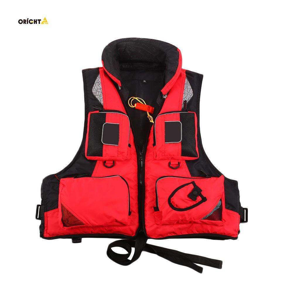 Reflective Swimming Sailing Life Jacket Adjustable Lifesaving Vest Adult
