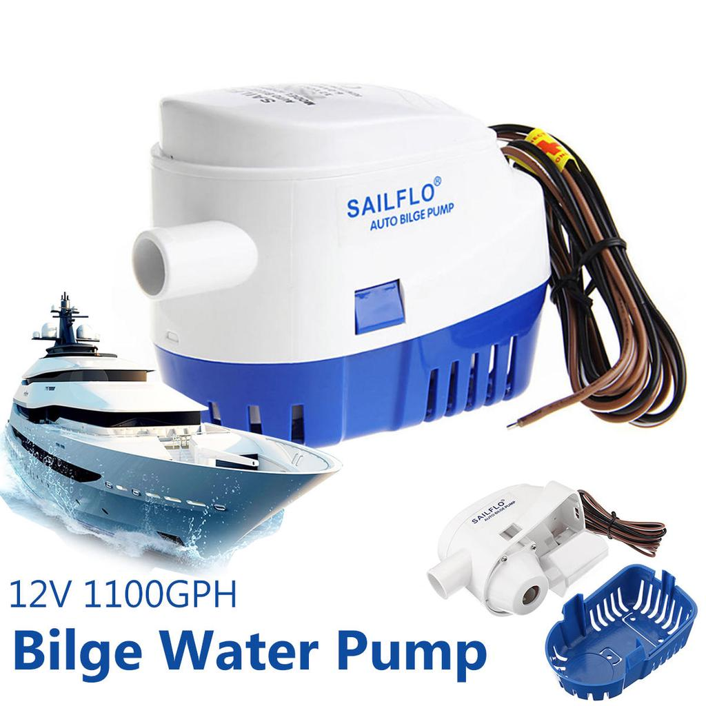Automatic 12V 1100GPH Submersible Water Pump Boat Auto Bilge With Float Switch U