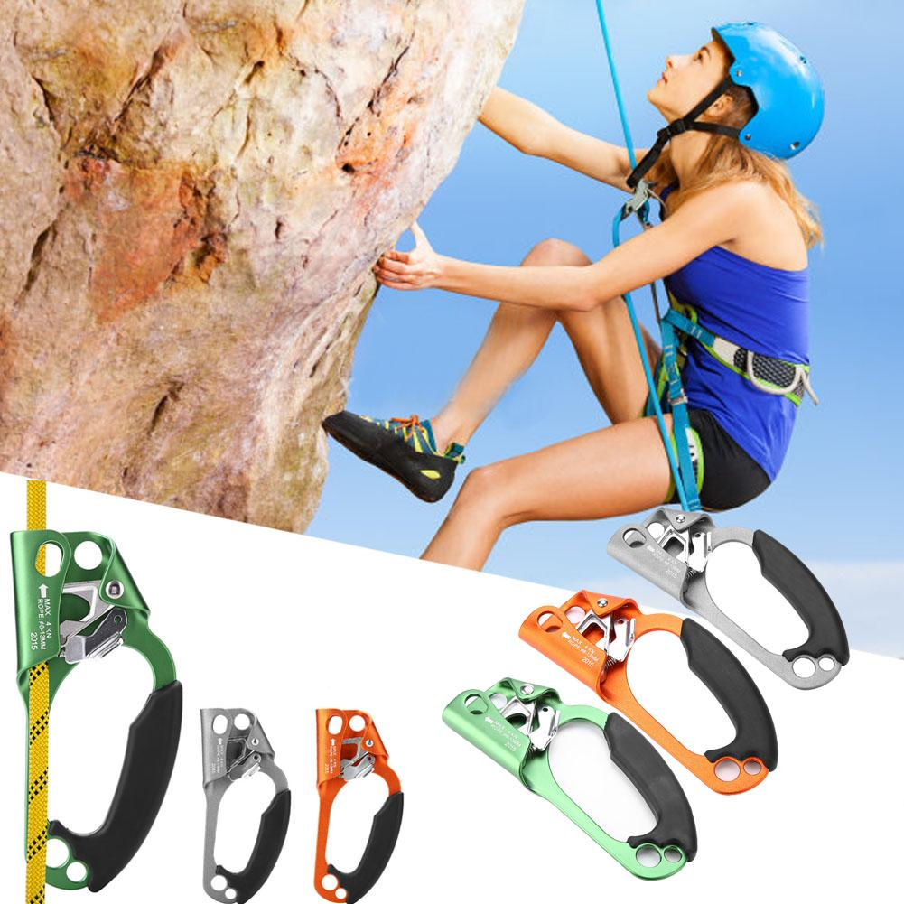 Tbest Climbing Hand Ascender Rock Climbing Right Handle Clamp for 8mm-13mm Rope Right Hand Climbing Equipment-Green//Orange//Grey