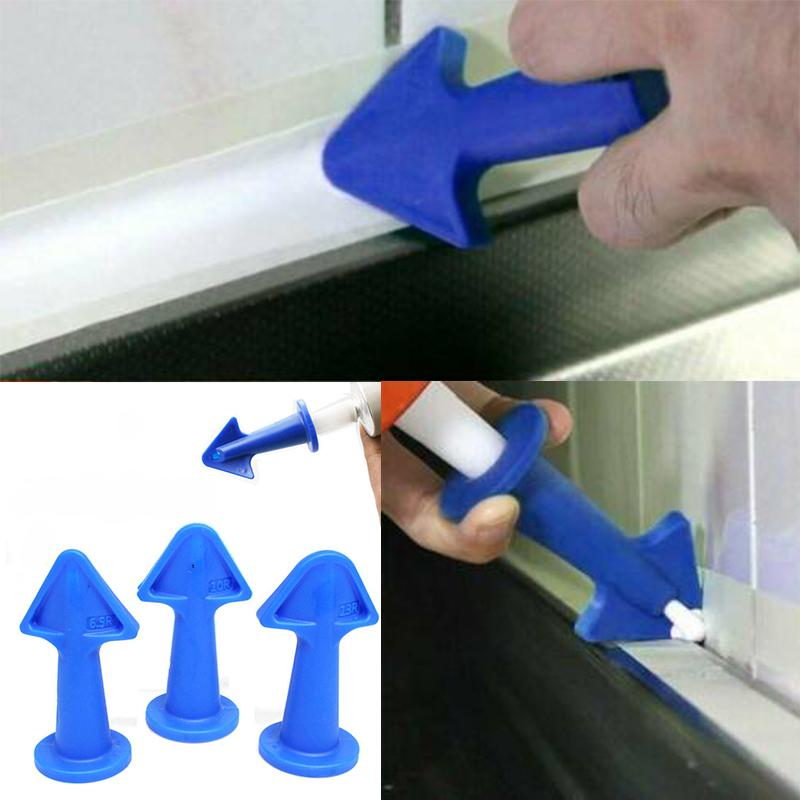 3 X Silicone Caulking Finisher Nozzle Spatulas Filler Spreader Cleaning Tool Set