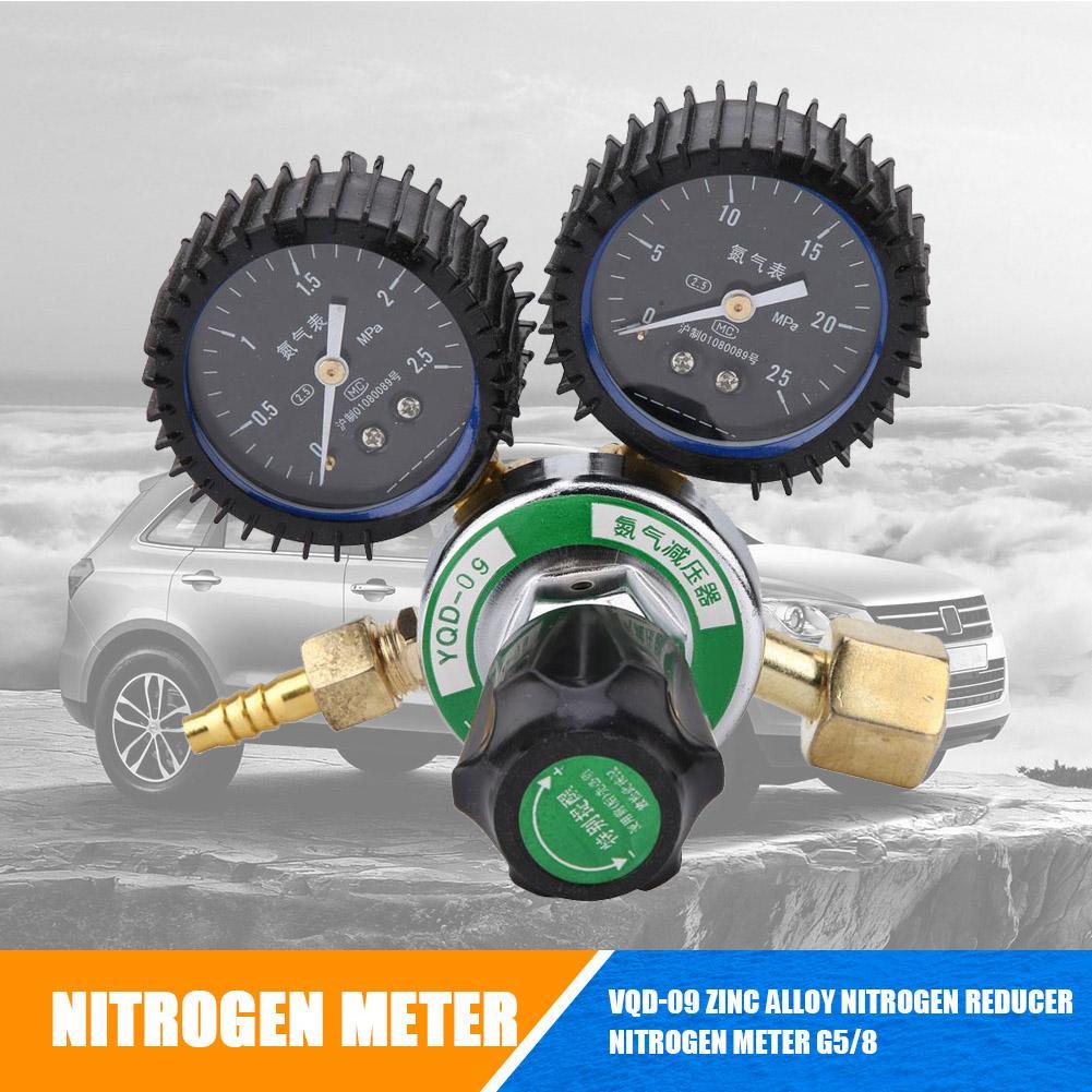 YQD-09 Zinc Alloy Nitrogen Pressure Reducer Meter Welding Regulator Gauge G5//8