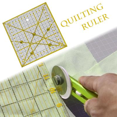 Plastic Rectangle//Square//Sector Quilt Quilting Ruler Patchwork DIY Sewing Ruler