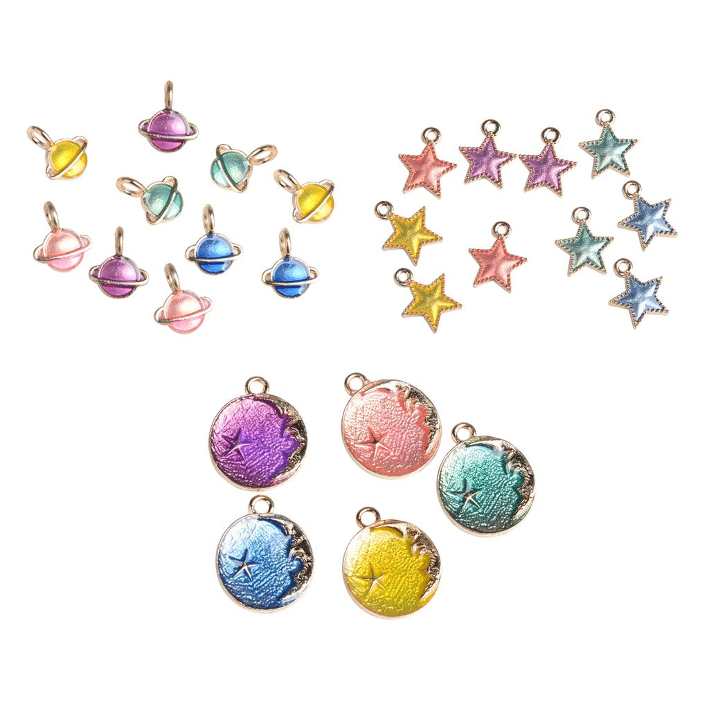 15pcs//lot Colorful Enamel Alloy Lovely Starfish Shaped Pendants Charms Jewelry