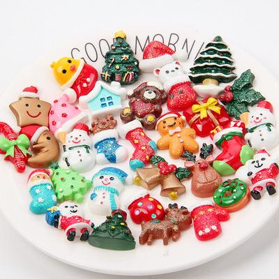 3D Mix Designs Resin  Cabochons Jewelry Mobile Phone DIY Christmas Decoration  Accessories Crafts