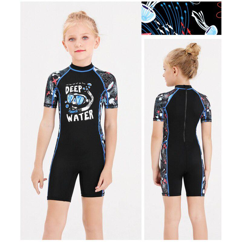Sun Protection Rash Guard One Piece Zip Swimsuit Quick Dry Bathing Suit Wetsuit Baby Boys UPF 50