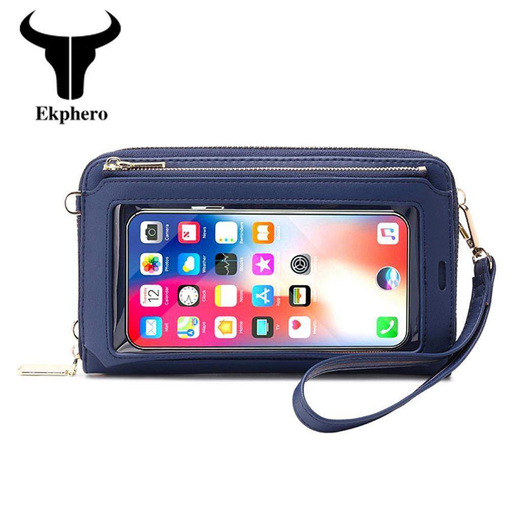 Ekphero женщин сенсорный экран Wristlet Сумка RFID Защита Малый кошелек Кошелек Кроссбоди Телефон сумка – купить по низким ценам в интернет-магазине Joom