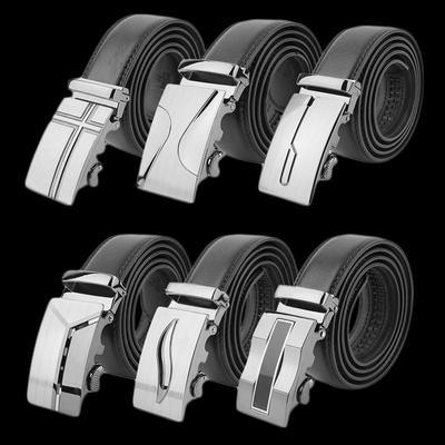 Hommes noirs taille sangle boucle automatique classique ceinture ceinture  en cuir véritable BMA 2ca93e141c3