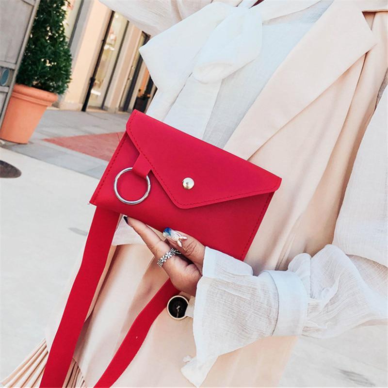Ladies Envelope Waist Shoulder Pack Bag Casual Belt Bag Portable Handbag US