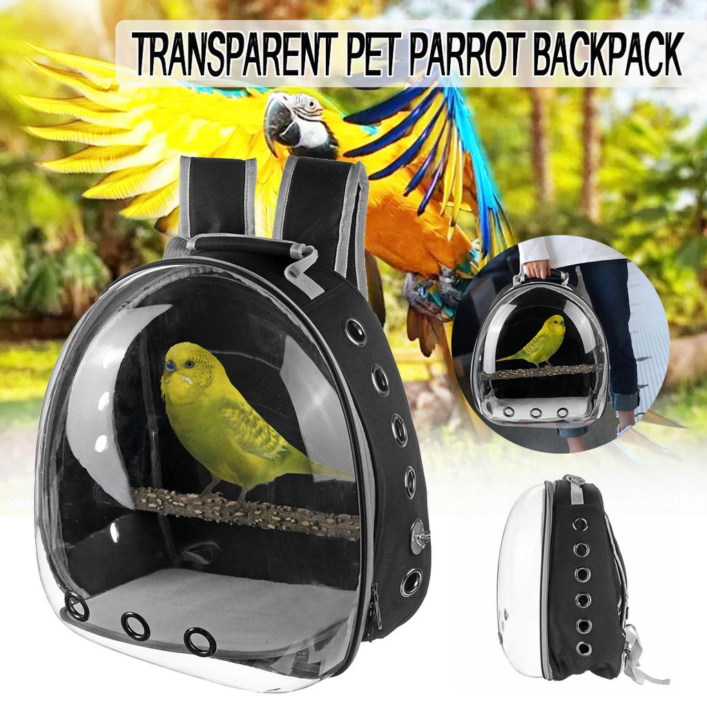 Parrot Outing Bird Pet Carrier Cage Bag Space Capsule Transparent Backpack Breathable For Pet Birds Buy At A Low Prices On Joom E Commerce Platform