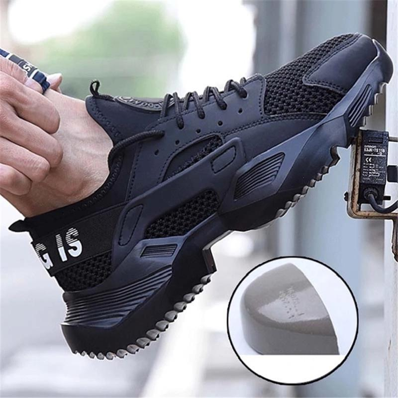 Men/'s Safety Shoes Steel Toe Breathable Work Boots Sports Protective Trainers