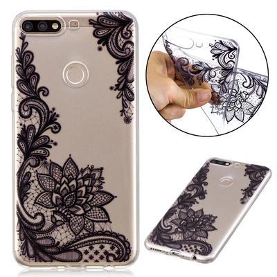 0c67dadb8d3e8 Sexy Black Lace Flower malowane miękką gumową akcesoria do telefonów  komórkowych dla Xiaomi Samsung Huawei Sony