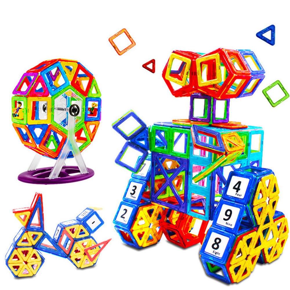 76Pcs Kids 3D Magnetic Blocks Building Toys DIY Construction Puzzle Multi colour