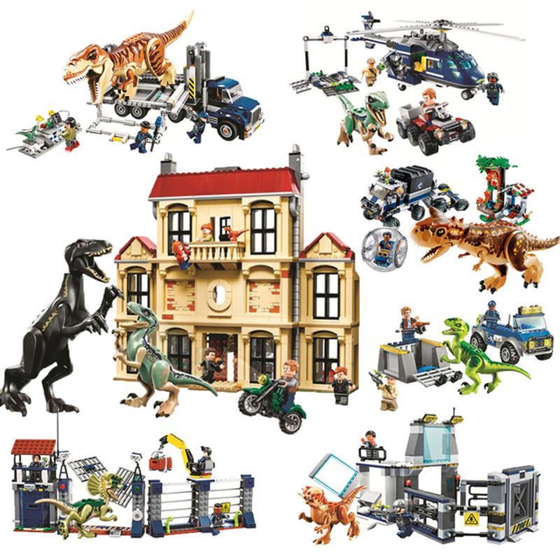 1046pcs Jurassic World Indoraptor Rampage Lockwood Estate Building Block Brick