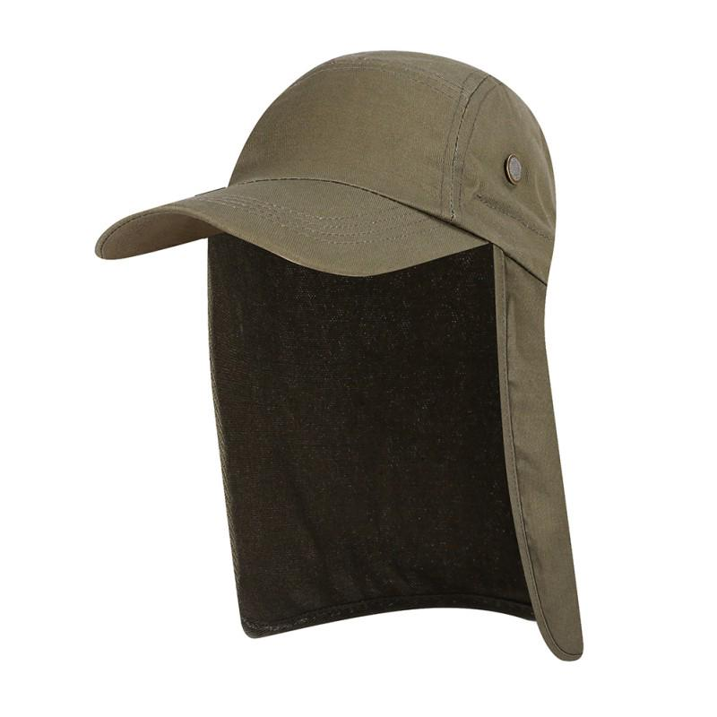 57560ca8b91ef Fishing Cap with Ear Neck Flap Cover Waterproof Sunshade Folding ...