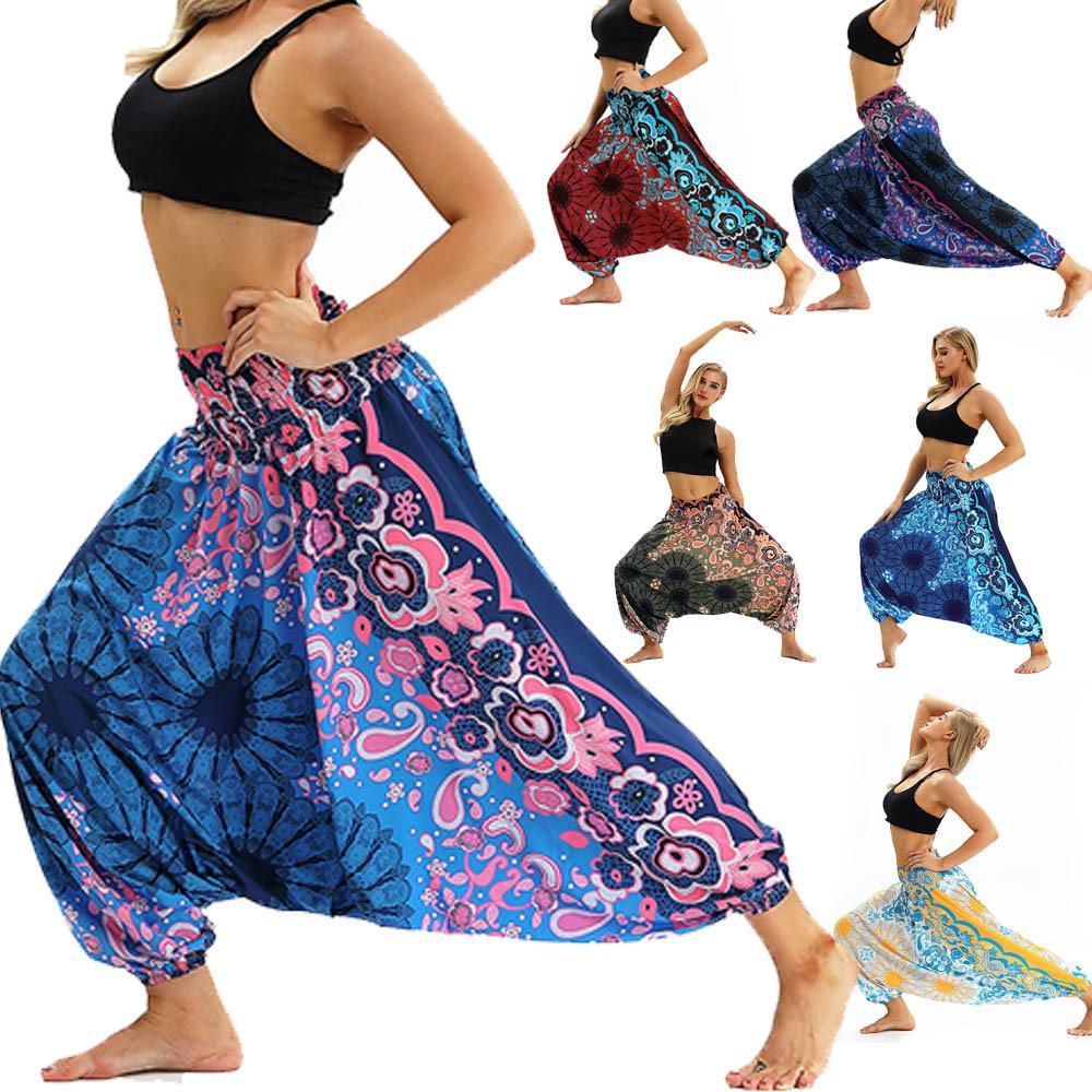 Harem Trousers Bohemian Printed Yoga Pants Skinny Leisure Aladdin Sweatpants