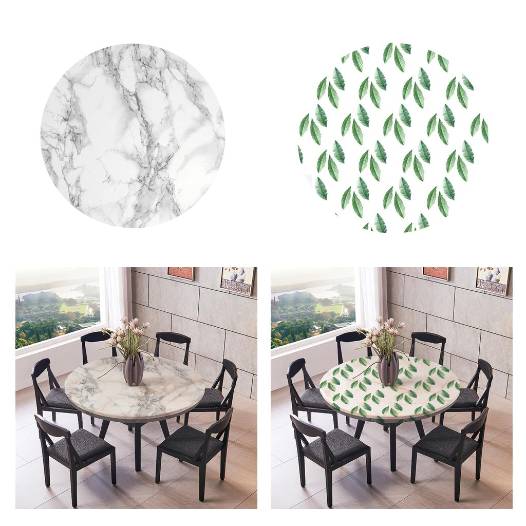 Waterproof Fitted Table Cloth Cover with Elastic Edge 120cm Dia for Party BBQ