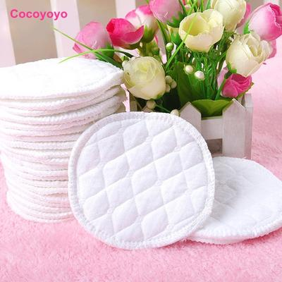 12 Pcs Reusable Nursing Pad Washable Absorbent For Baby Feeding Breastfeeding