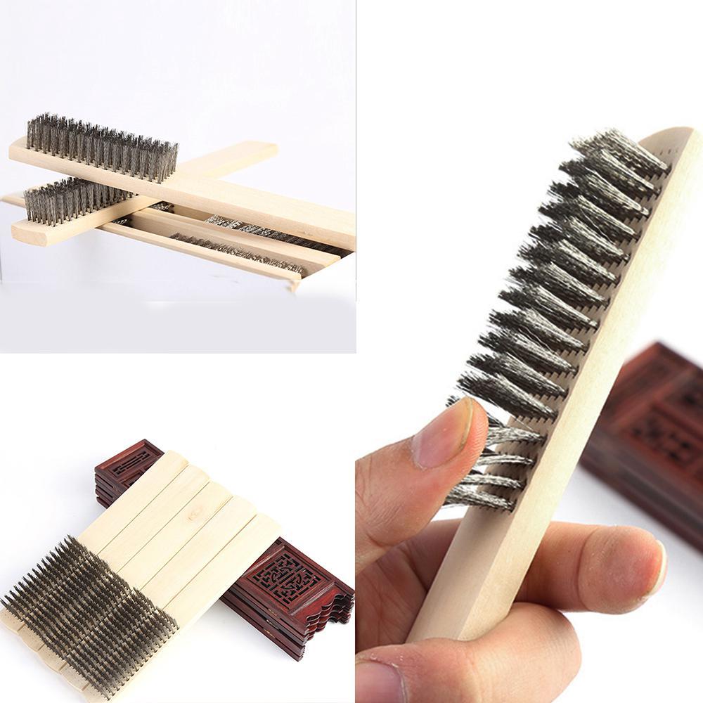 Forney alambre cero cepillo con mango de madera del zapato y ... 25b3a648322b