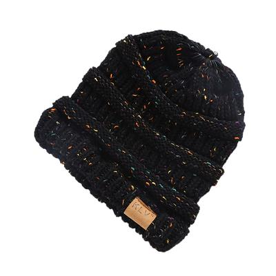 Mujeres holgado ganchillo cálido invierno lana Knit esquí gorro cráneo  gorras Slouchy 82364de8efe