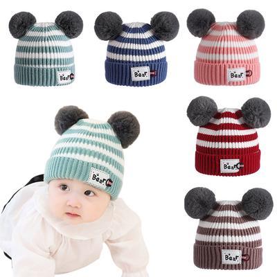 f06f7c1f212 Cute Baby Winter Hat Warm Infant Beanie Cap for Children Boys Girl ...