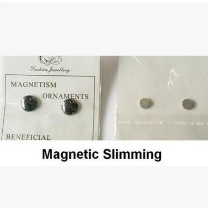 1 pereche cristal greutate pierderea magnetice cercei sănătate Magnet Non-străpuns ureche Stud