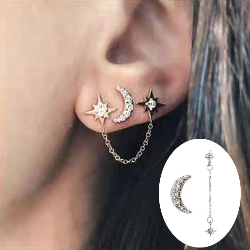 Vintage Femmes Lady Drop Dangle No Piercing Manchette d/'oreille Clip Clous D/'oreilles Bijoux