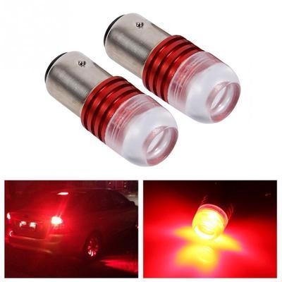 2pcs Strobe Flashing White 1157 LED Auto Tail Brake Light Lamp Projector Bulb H/&